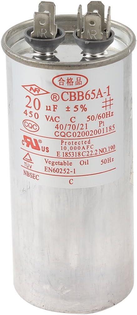 Aexit 20uF 50 / 60HZ 450VAC CBB65A-1 Motor en funcionamiento ...