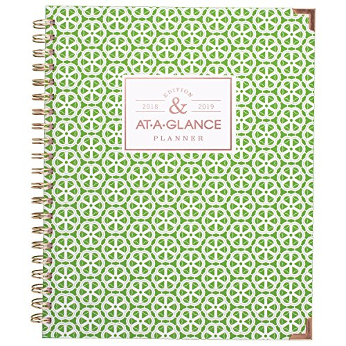 Monthly Wirebound Day Planner - AT-A-GLANCE Academic Weekly / Monthly Planner, July 2018 - June 2019, 8-1/2