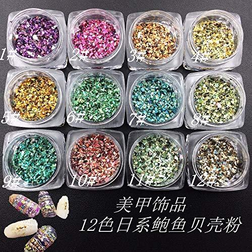 Kamas 1box/lot New Japan Korean Charm Nail Art Deco Kawaii Fashion Shell Stone DIY Nail Tools Sticker for Manicure - (Color: 10) (Art Deco Japan)