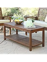 WE Furniture Solid Acacia Wood Patio Coffee Table