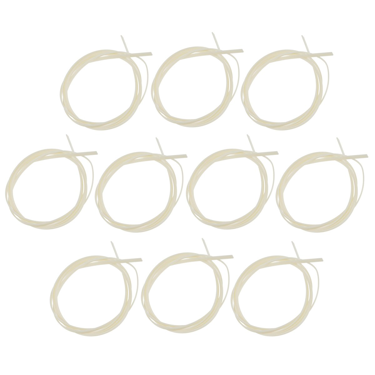 Kmise Guitar Binding Purfling Strip for Guitar Body Project Supplies Plastic 1650 6 1.5mm 10 Pcs