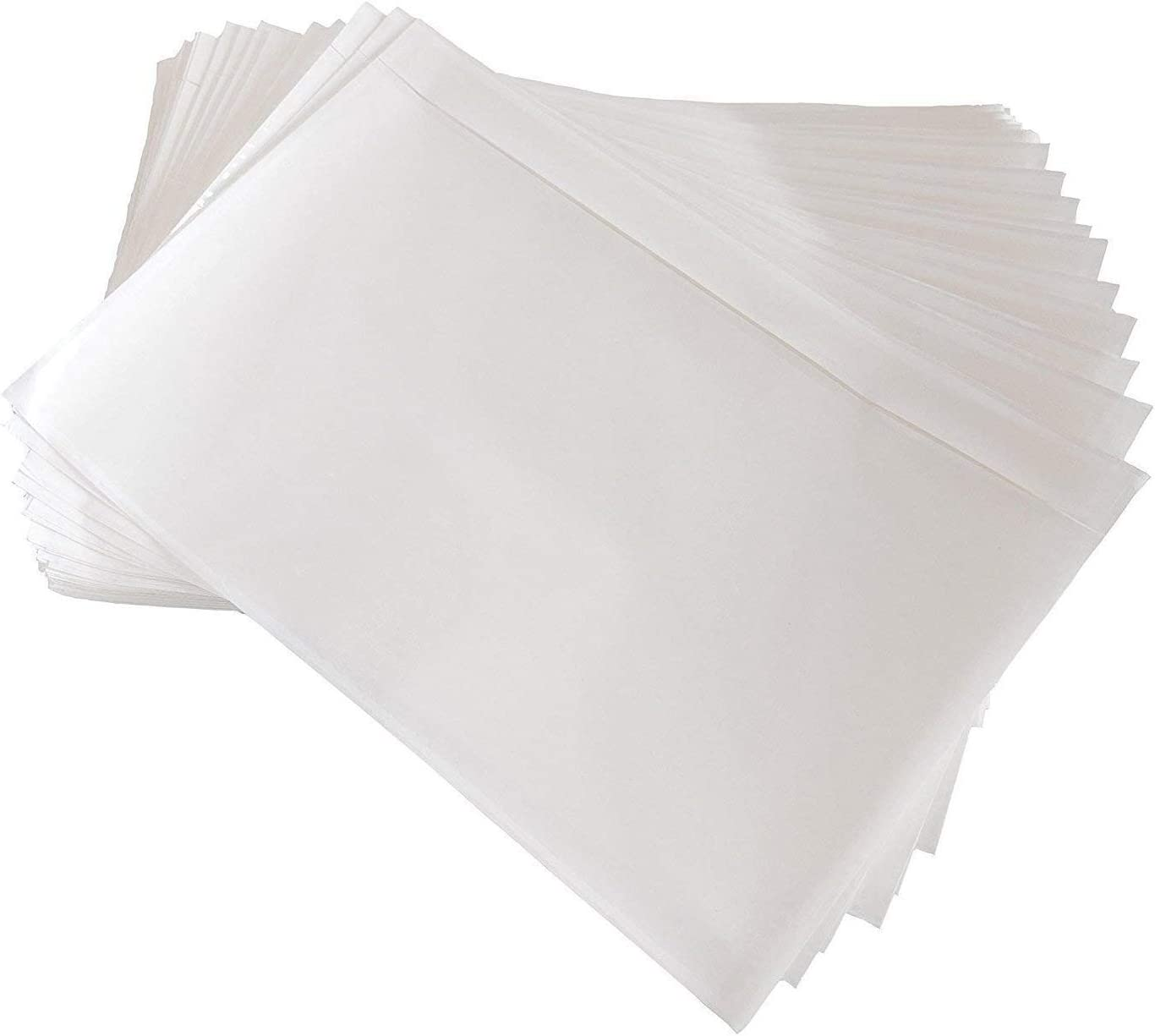 """100 Pack 7.5"""" x 5.5"""" Clear Self-Adhesive Top Loading Packing List/Shipping Label Envelopes Pouches"""