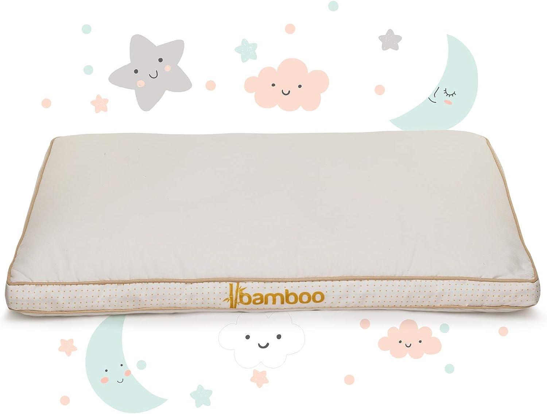 Almohada Infantil 40x60 a partir de 1 año - Certificada por OEKO TEX STANDARD 100 - Recomendada por pediatras