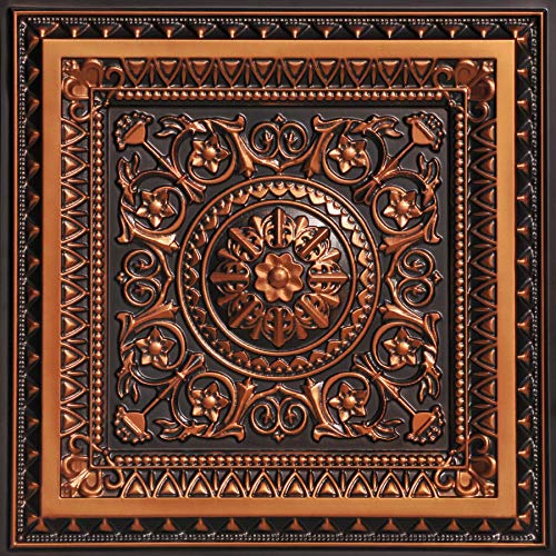 From Plain To Beautiful In Hours 223ac-24x24 Ceiling Tile, Antique Copper