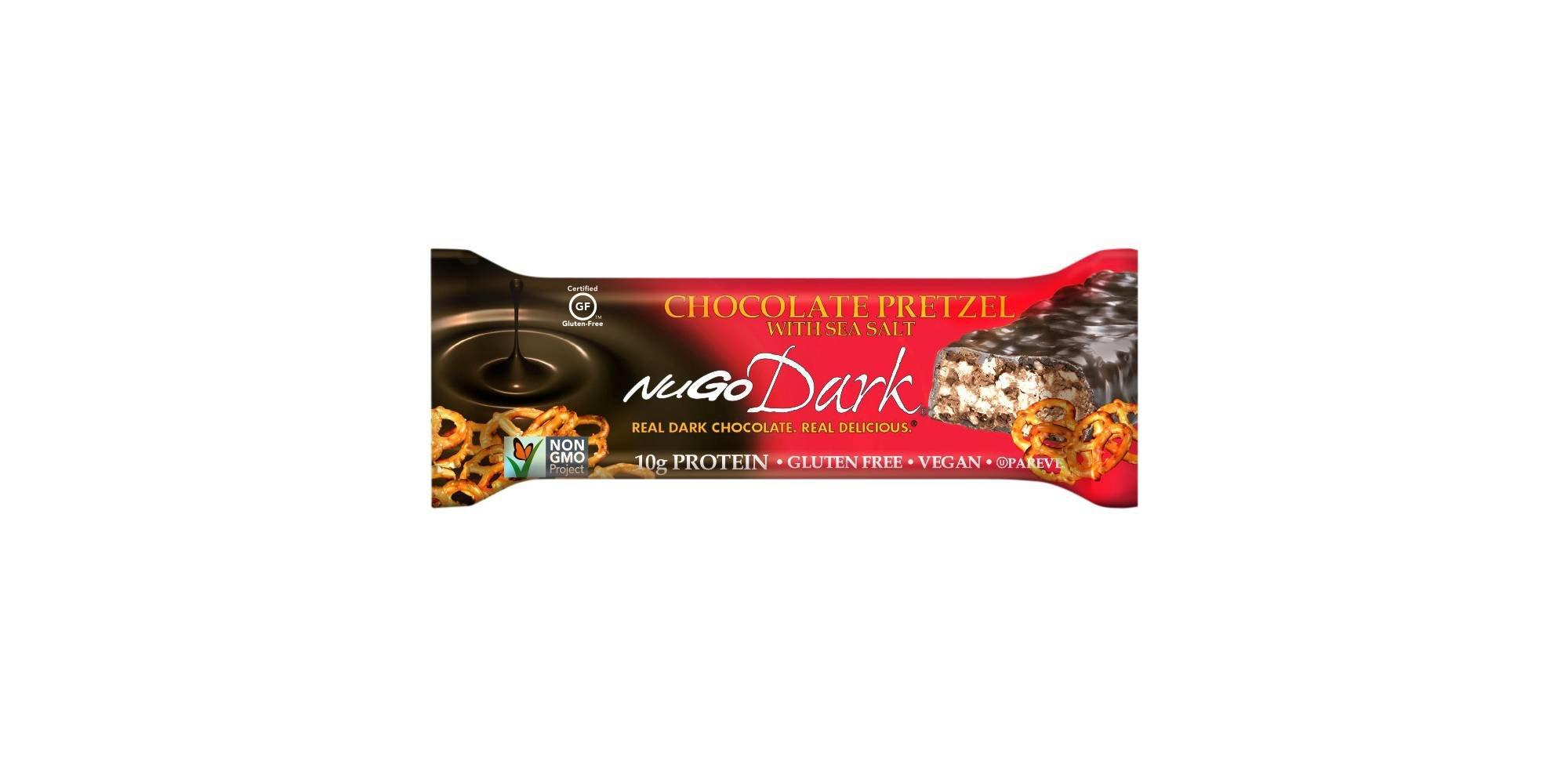 Nugo Dark Chocolate Pretzel with Sea Salt Gluten Free Granola Bars 1.76ozx5 bars, total 8.8oz