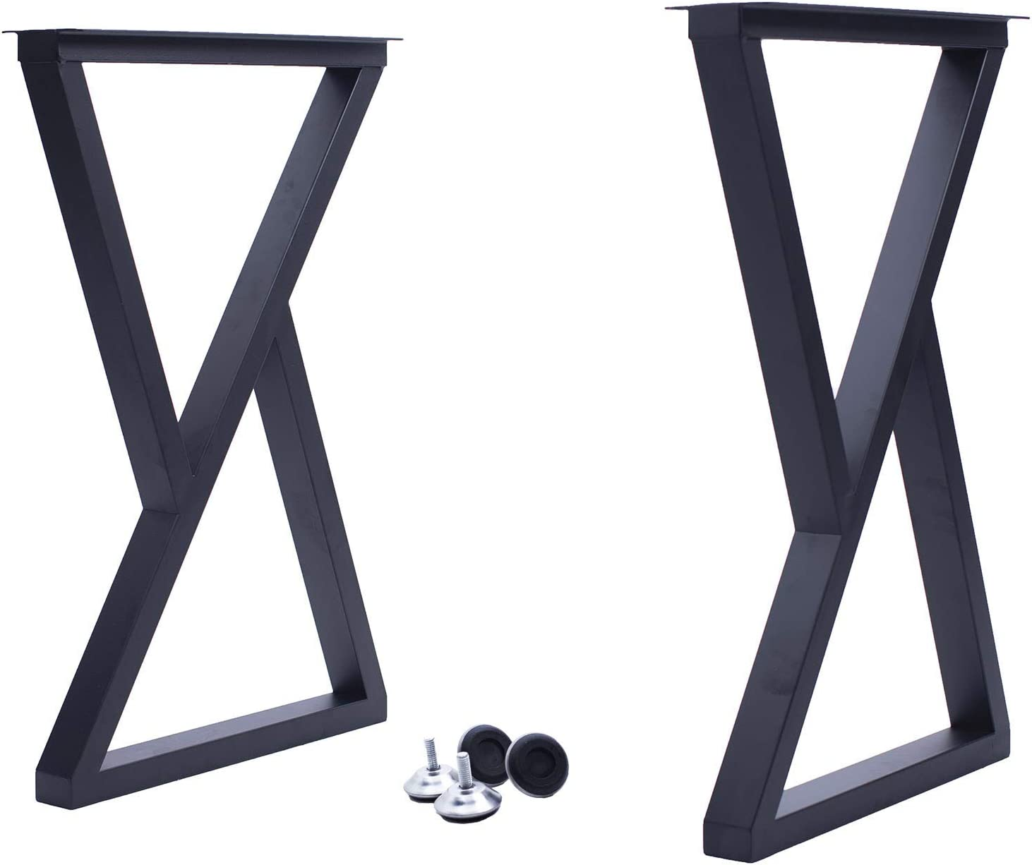 FPLX 28 inch Tall Desk Legs, Dining Table Legs Metal Kitchen Legs for Furniture, Set of 2
