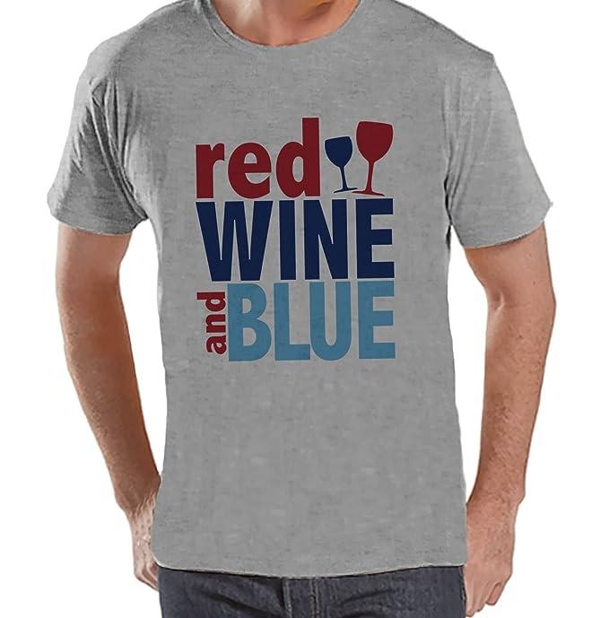 6c109327 Amazon.com: Custom Party Shop Men's Red Wine & Blue 4th of July Grey ...