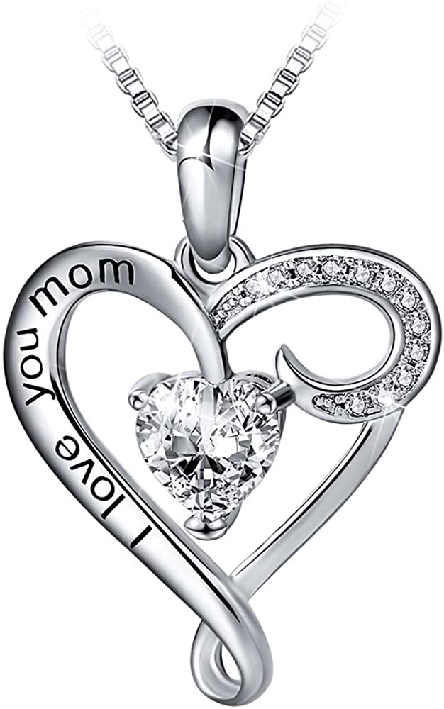 Best Friends over Sterling Silver Wife Sister Mother/'s Day I Love You Heart Necklace with Real 24K Gold Chain Woman Mom Unique Jewelry Gift Ideas for Her Comes with Luxury Box