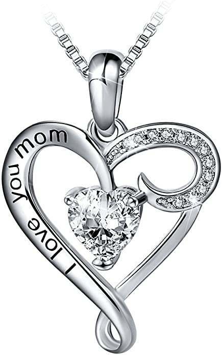 Woman/'s Jewelry Mother/'s Day Mom Liberty Floral Bracelet Blue Pendant Heart Cordon Satin White Teenage Gift