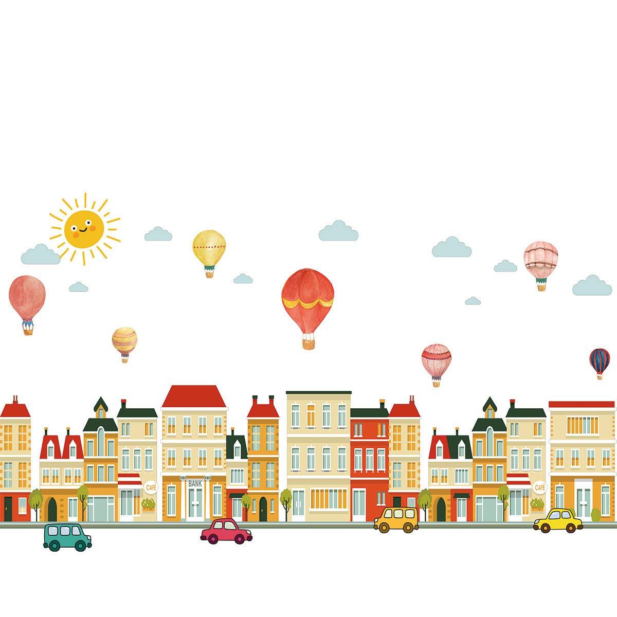Topgrowth Adesivi Murali DIY Casa Cartone Animato Removibile Sticker Adesivo da Parete Adesivo Casa Famiglia Arte Murale Wall Stickers LLX80828001C