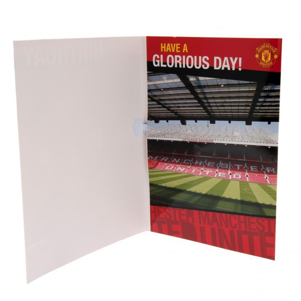Geburtstagskarte, mit Musik, Manchester United FC Design Footie Gifts SC020