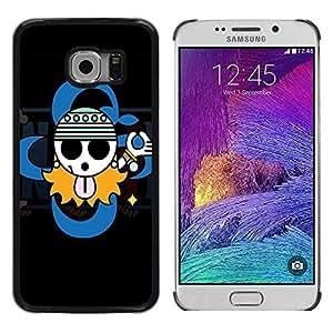 LECELL -- Funda protectora / Cubierta / Piel For Samsung Galaxy S6 EDGE SM-G925 -- Cute Gangsta Sign --