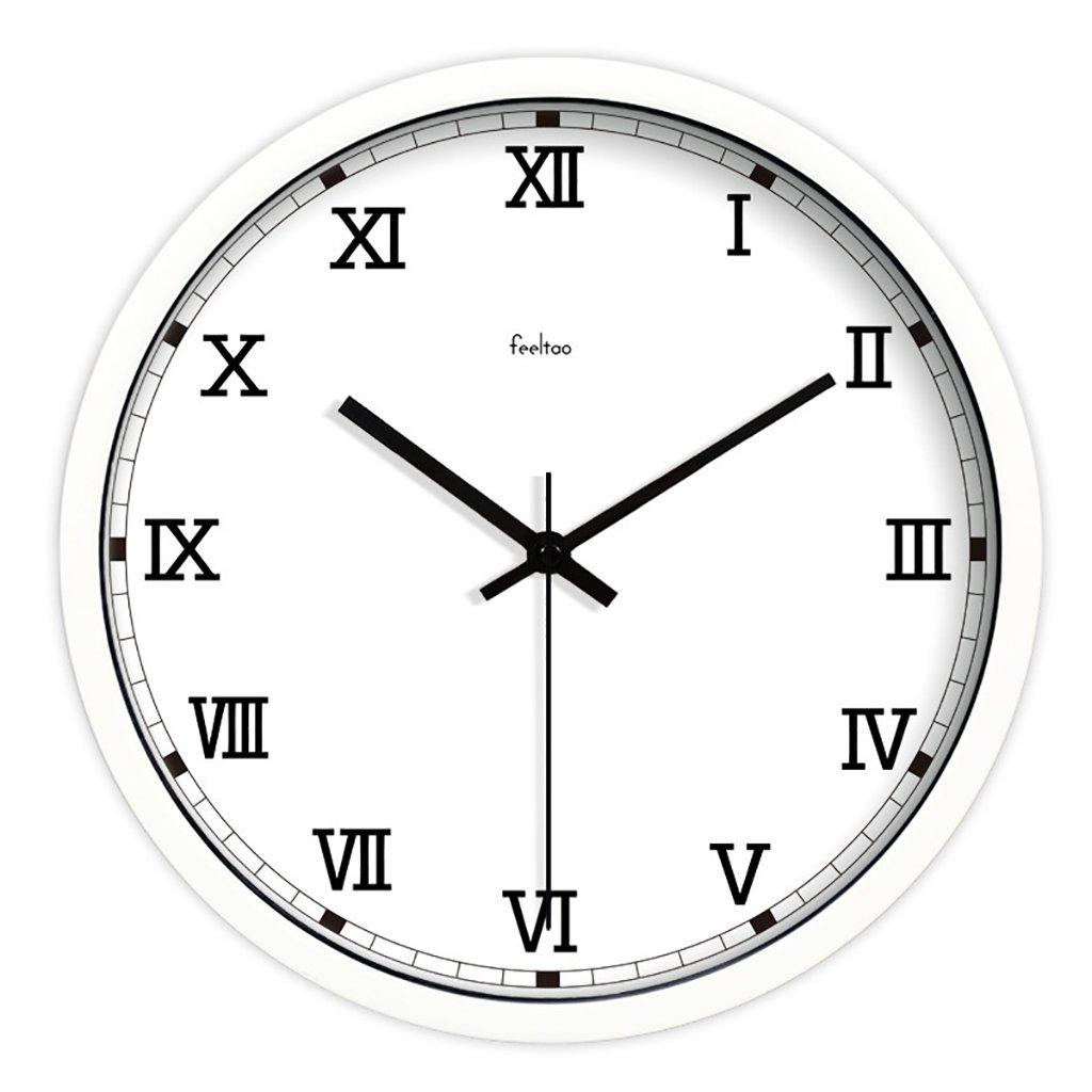 レトロシンプルな現代ローマンデジタルウォールクロックラージリビングルームウォールチャートサイレントクォーツ時計 (色 : A, サイズ さいず : 14inch) B07F1BZ4VW 14inch|A A 14inch