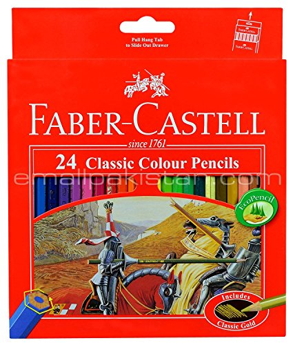 Colored Pencil Faber Castell 24 Color Best Colored Pencil for Adult Coloring Book with Free Premium Faber Castell (Best Faber Castell Coloring Pencils For Adult Coloring Books)
