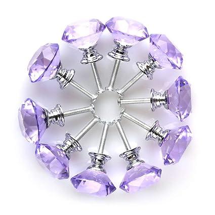 ALCOMPRA Forma de diamante Cristal Cristal 30 mm Gabinete de ...