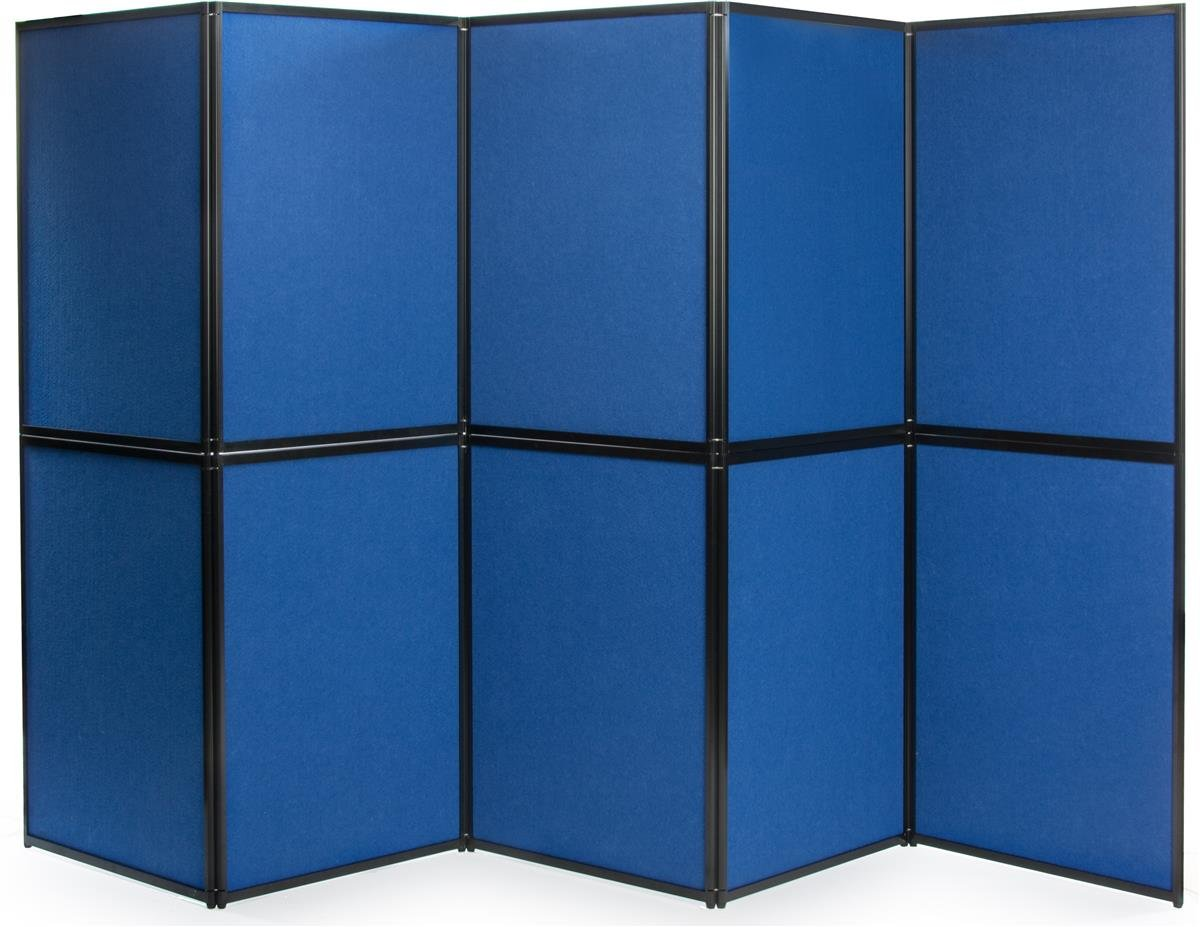 Displays2go FBL7272TN Trade Show Double Sided Presentation Board with 10 Panels by Displays2go