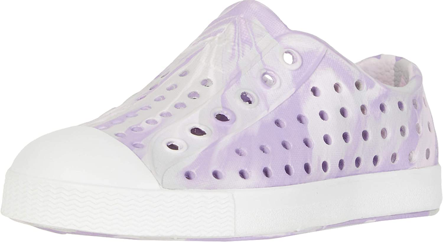 Native Kids Shoes Girls Jefferson Marbled Milk Pink//Shell White//Marbled 9 Toddler Toddler//Little Kid