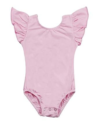 e6f2edd49ae9 Amazon.com  Newborn Baby Girls Flutter Sleeve One-Piece Romper ...