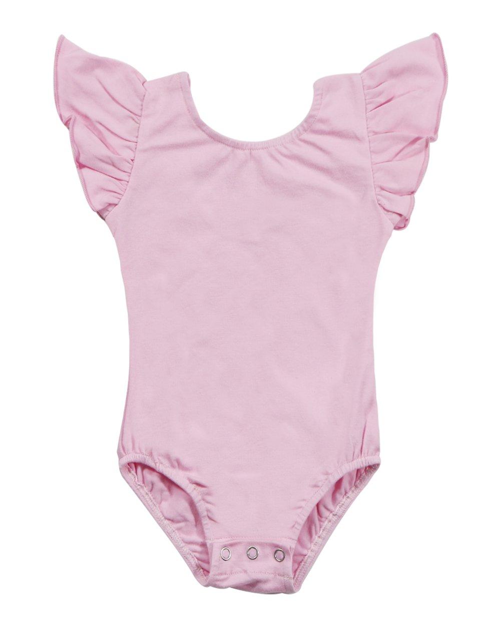 Newborn Baby Girls Flutter Sleeve One-Piece Romper