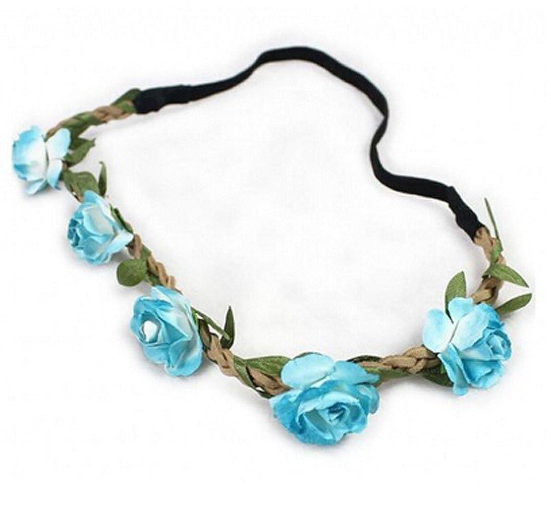 Amazon Hippie Love Flower Garland Crown Festival Wedding Hair