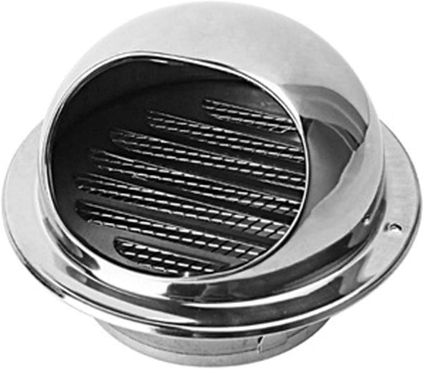 Kanalventilator L/üftungsgitter Edelstahl Mit Insektennetz,70mm LTLCLZ L/üftungsgitter Rundgitter L/üftungshaube