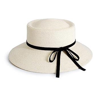 YXINY Viseras Sombrero De Paja De Mujer Bombín Sombrero De Visera Estilo  Francés Verano Cubo Sombreros a64460ab56c