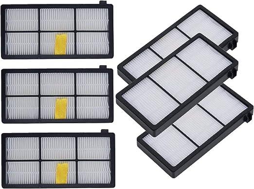Sweet D HEPA Filtros para iRobot Roomba 800 y 900 Series, Recambios Accesorios, 6 Pcs: Amazon.es: Hogar
