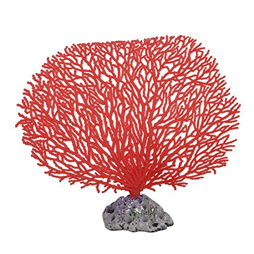 Artificial & Dried Flowers - 5.5 Quot Height Red Soft Plastic Branch Coral Emulational Underwater Plant Decor - Tank Room Girls Large Aquarium Hook Topiary Light Gold Vine Wall Sticks Vase ()