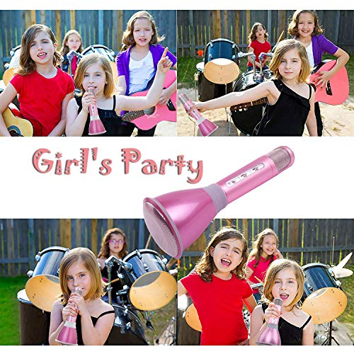 NeWisdom Top Birthday Gifts For Girls Age 5 To 13 Year Old Wireless Bluetooth Microphone