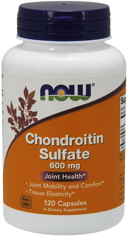NOW Supplements, Chondroitin Sulfate 600 mg (a Glycosaminoglycan), 120 Capsules