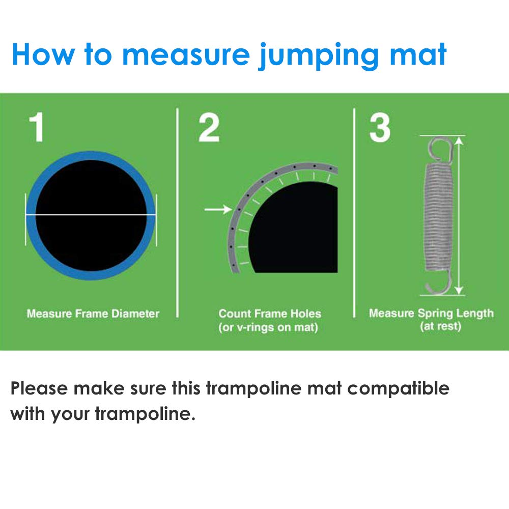 Zupapa 2019 Trampoline 15FT 14FT 12FT 10FT Newest No-Gap Jumping Mat Replacement (10FT) by Zupapa (Image #3)