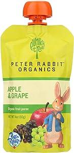 Fruit Snk, 95% organic, Apple & Grape, 4 oz (pack of 10 ) ( Value Bulk Multi-pack)