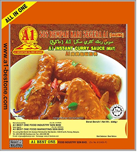 A1 Best One Instant Curry Sauce for Meat (5 packs with