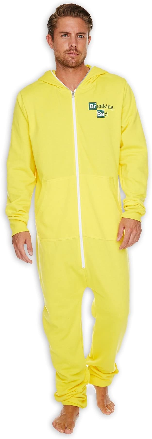 Mens Yellow Breaking Bad Cook Suit Onesie by The Gro Company ...
