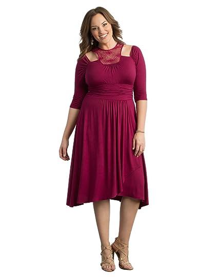 Kiyonna Women\'s Plus Size Chloe Crochet Dress at Amazon Women\'s ...