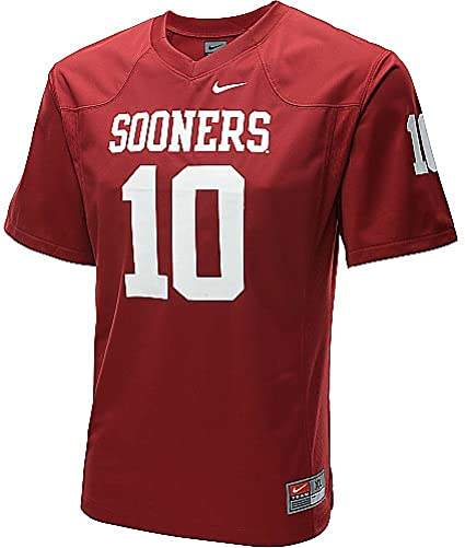 separation shoes 82eff 686ac Nike Oklahoma Sooners Youth Game #10 Crimson Football Jersey