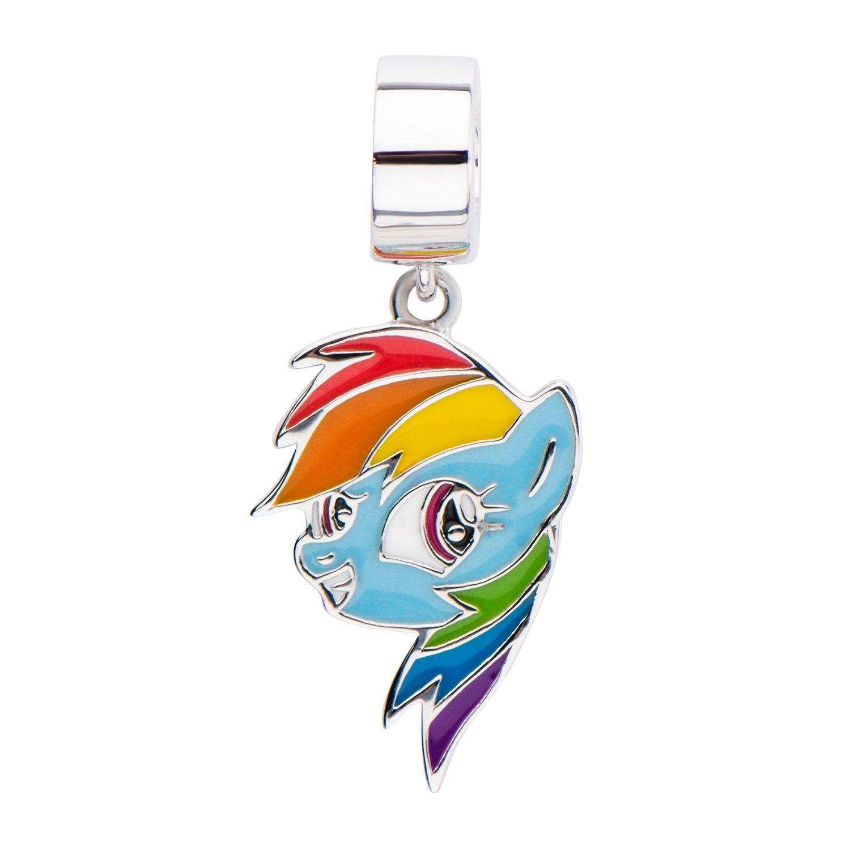 Hasbro Jewelry Unisex My Little Pony Rainbow Dash 925 Sterling Silver Charm