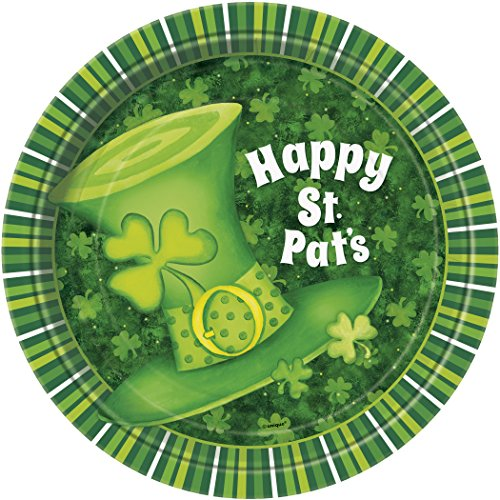 Saint Patrick's Day Stripes Dessert Plates, 8ct