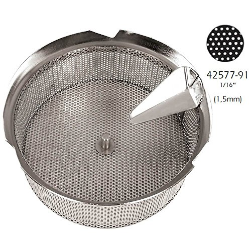 (Paderno World Cuisine Sieve for 15-Quart Tin Food Mill with 1/16-Inch)