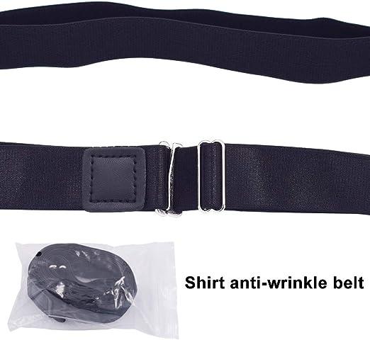 Schwarz Healifty Shirt Stay Shirt Lock G/ürtel Anti-Rutsch-Falten-Verband Super Belt Verstellbarer Elastischer Shirt-Halter H/ält Das Shirt f/ür Erwachsene in 2 5 cm Versteckt