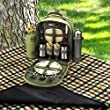 Picnic at Ascot - Deluxe Equipped 2 Person Eco Picnic Backpack with Coffee Service, Cooler & Insulated Wine Holder - Olive Tweed