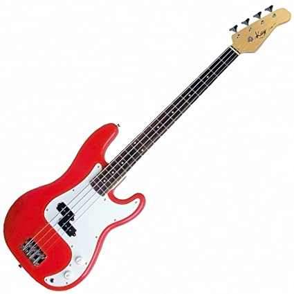 Amazon.com: Kay KB24CR Electric Bass Guitar-Long Scale - Red (Cherry Red): Musical Instruments