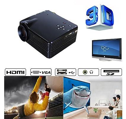 Mini 3d led 1080P Proyector Multimedia Proyector de vídeo ...