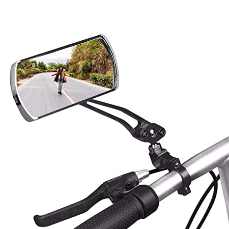 Bicycle Foldable Handlebar Rear View Mirror Cycling Bike Rearview Mirror w//Light