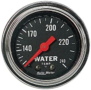 Auto Meter 2432 Traditional Chrome Mechanical Water Temperature Gauge