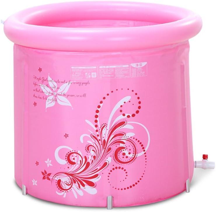 Sunjun& Puede Doblar Abajo La Tina Bañera Bañera Inflable Bañera de Adulto Barriles de baño de plástico (Color : Pink): Amazon.es: Hogar