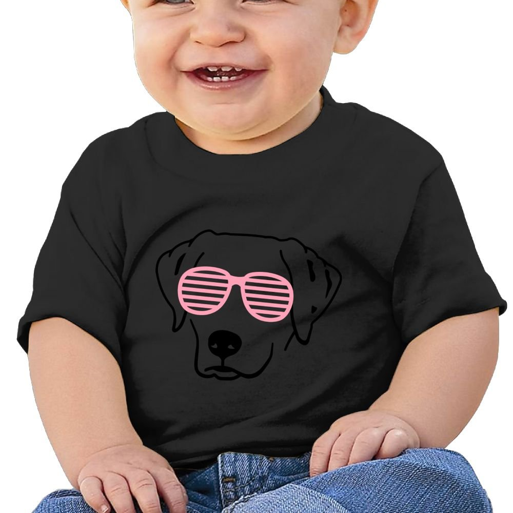 Baby Girls Toddler//Infant Brother Gift Dog with Pink Glasses Tshirt