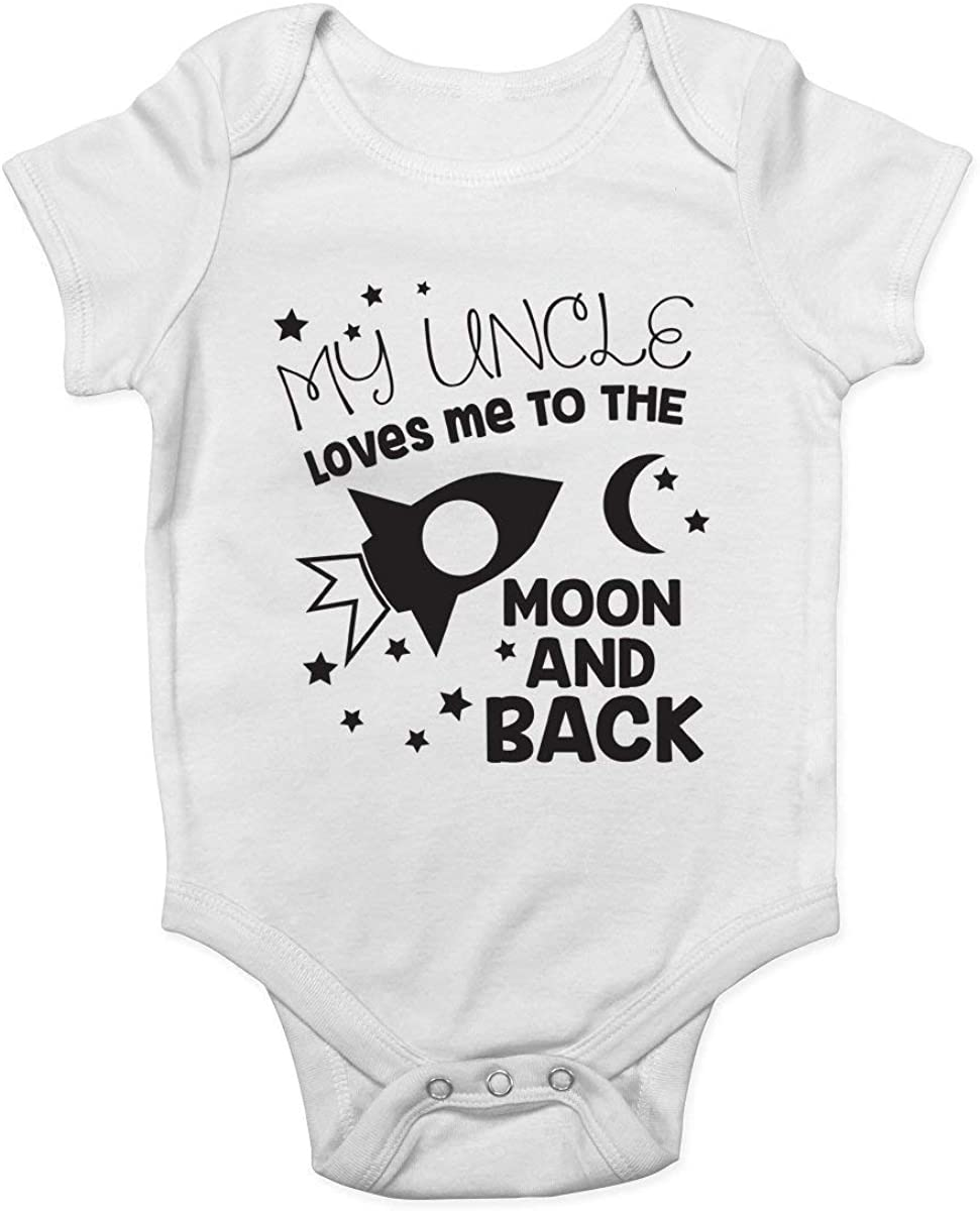 Tutina per neonato con scritta My Uncle Loves me to The Moon and Back Promini