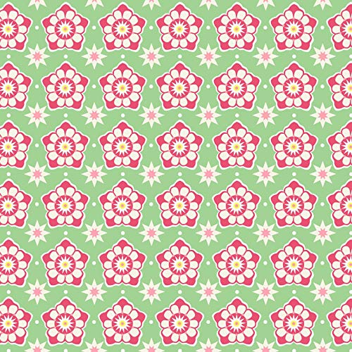 Deco State Flower - Pennsylvania - Mountain Laurel - in The Beginning Fabrics - Cotton Fabric