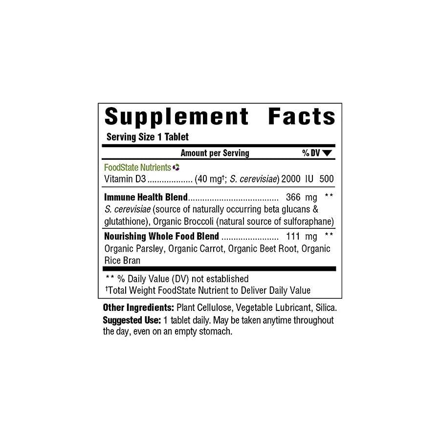 MegaFood Vitamin D 3 2000 IU Tablets